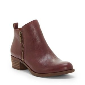 Lucky Brand Basel Flat Bootie in Purple Brown 8.5